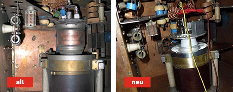 Umrüstung an Kiefel - Körting HF-Generator Fixus G20000Sb